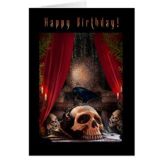 Feliz aniversario - antro dos corvos - cartão de