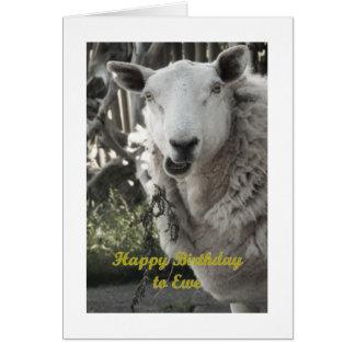 Feliz aniversario ao cartão da ovelha