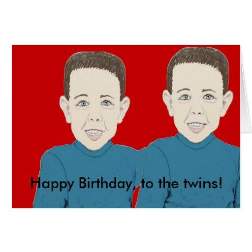 Feliz aniversario ao cartão dos gêmeos