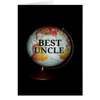 Feliz aniversario ao melhor tio Terra! Cartão Comemorativo