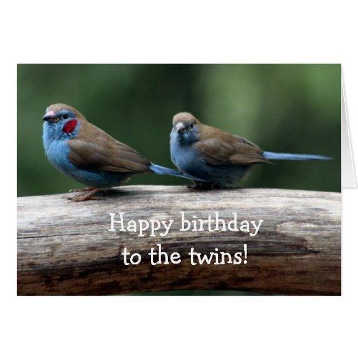 Feliz aniversario aos gêmeos! cartão