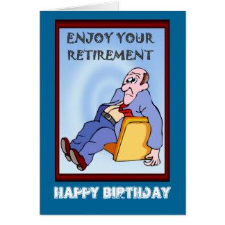 Feliz aniversario, aposentadoria cartão comemorativo