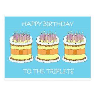 Feliz aniversario às objectivas triplas cartão postal