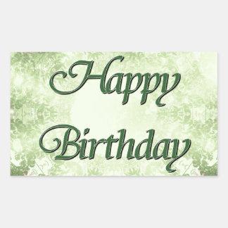 Feliz aniversario adesivos retangular