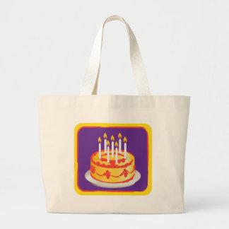 Feliz aniversario Bolo de aniversário amarelo da Bolsa Para Compras