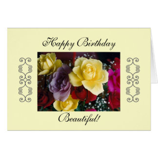Feliz aniversario bonito! cartão comemorativo