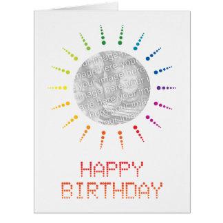 feliz aniversario (brightBurst) Cartão