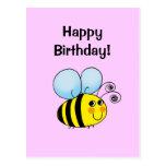 Feliz aniversario! (bumble a abelha) cartões postais