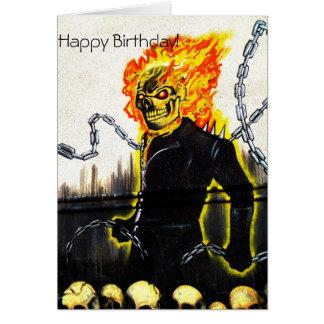 Feliz aniversario CArd=nephew Cartão Comemorativo