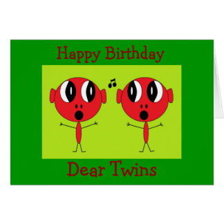 , Feliz aniversario, caro Gêmeo Cartão Comemorativo