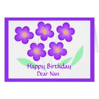 Feliz aniversario caro Nan Cartão Comemorativo