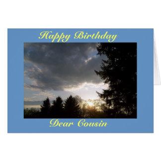 Feliz aniversario, caro primo cartão comemorativo