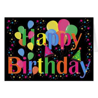 Feliz aniversario cartão