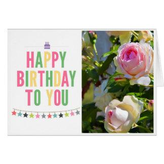 Feliz aniversário cartão