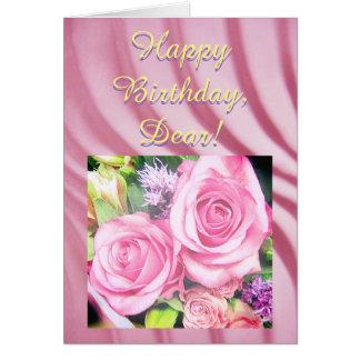 Feliz aniversario - cartão