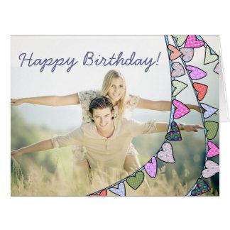 Feliz aniversario! cartão bonito da foto