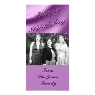 Feliz aniversario cartão com foto