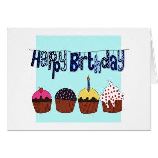Feliz aniversario cartão comemorativo