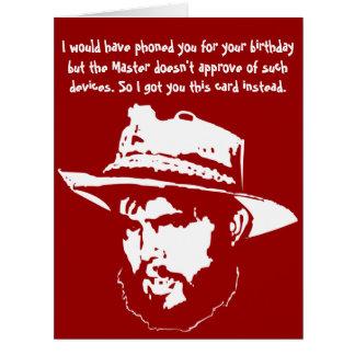 Feliz aniversario cartão comemorativo grande