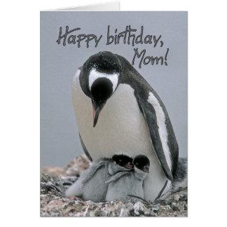 Feliz aniversario, cartão da mamã