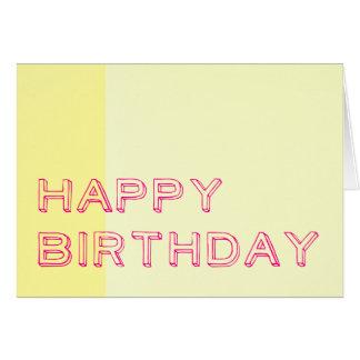 Feliz aniversario cartão de nota