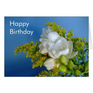 Feliz aniversario - cartão do Freesia