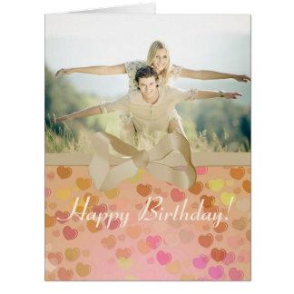 Feliz aniversario cartão do quadro da foto dos