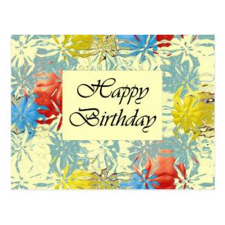 Feliz aniversario cartao postal