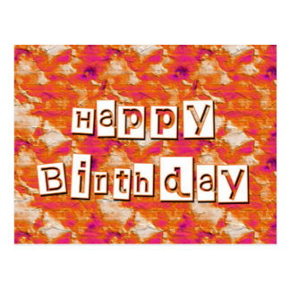 Feliz aniversario cartões postais