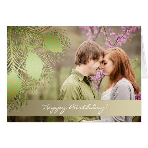 Feliz aniversario! - Cartões com fotos do pavão do