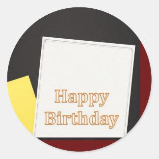 Feliz aniversario coleção do março de 2012 adesivo