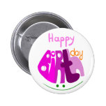 Feliz aniversario com botão do sorriso boton