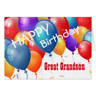 Feliz aniversario com EXCELENTE dos balões - NETO Cartão Comemorativo