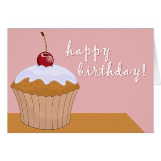 feliz aniversario: cupcake gigante: cartao
