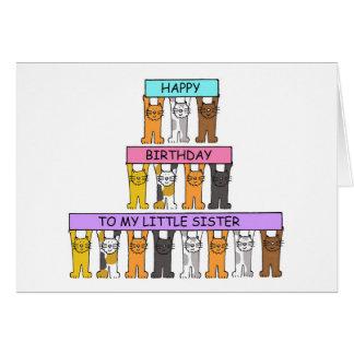 Feliz aniversario da irmã mais nova cartão comemorativo