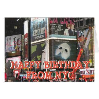 Feliz aniversario da senhorita Você Cartão de NYC