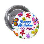 Feliz aniversario das flores grandes a mim botão botons