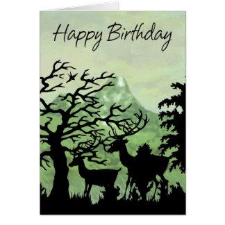 Feliz aniversario de cartão de aniversário com