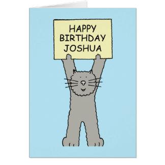 Feliz aniversario de Joshua Cartão Comemorativo