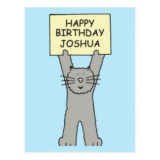 Feliz aniversario de Joshua Cartão Postal