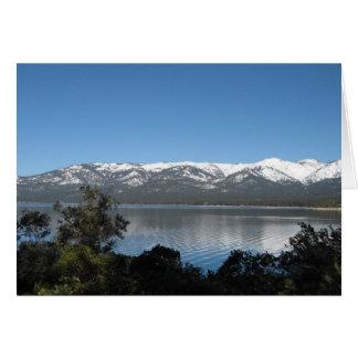 Feliz aniversario de Lake Tahoe Cartão De Nota