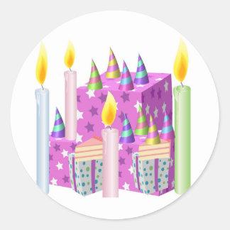 Feliz aniversario de NOVINO - ocasiões felizes Adesivo
