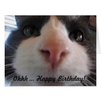 Feliz aniversario de Ohhh…! Cartão de aniversário