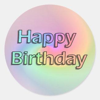 Feliz aniversario do arco-íris adesivo