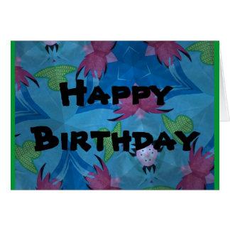 Feliz aniversario do cartão