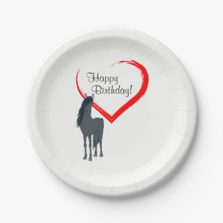 Feliz aniversario do cavalo preto bonito e do