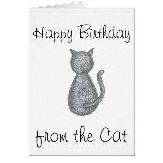 Feliz aniversario do gato - cartão de aniversário