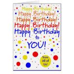 Feliz aniversário do grupo cartão