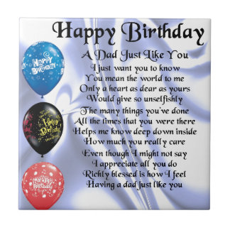 Feliz aniversario do poema do pai
