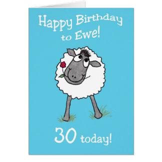 Feliz aniversario dos carneiros bonitos ao cartão
